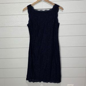 Adrianna Papell Navy Lace Dress Size 8